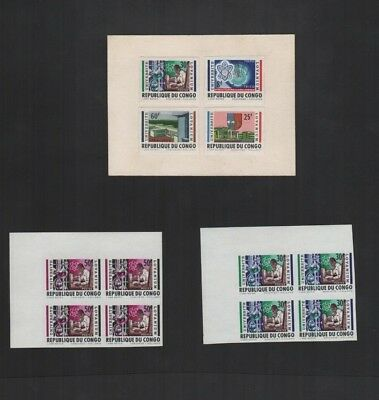 381         BGL   Congo imperforate bloc of 4 MNH and on carton