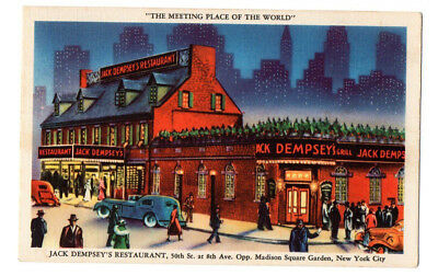 Jack Dempsey's Restaurant, 50th St at 8th Ave, New York City, NY Linen Postcard