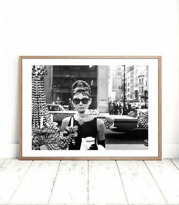 Audrey Hepburn Breakfast at Tiffanys classic print poster