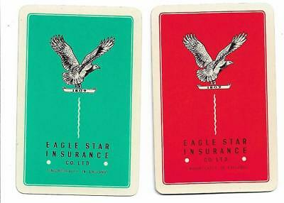 Eagle Star Insurance Advert X 2 Only Single Vintage Playing/swapcards.  .