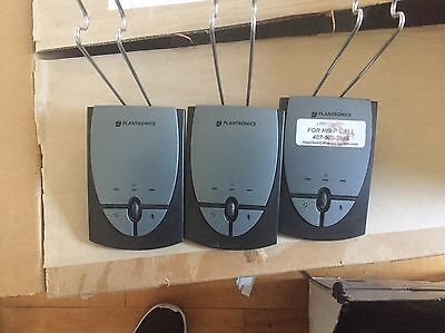 Lot of 3 Plantronics S12 Headband Phone System Headset Unit Only