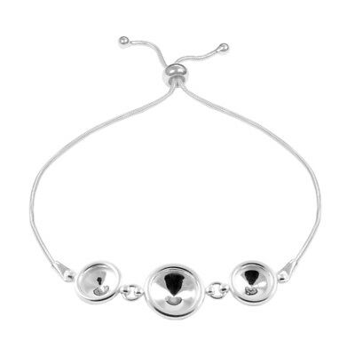 Sterling Silver Adjustable Bracelet Base for Gluing 1122 Crystals 8mm 10mm 12mm