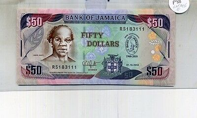 Jamaica $50 2010 Currency Note Cu 4621D