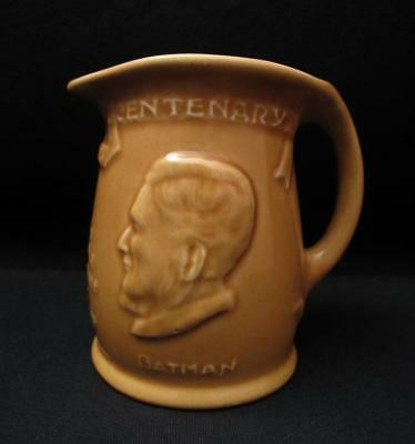 Australian Pottery Signed Hoffman Ware ( Melrose ) Melbourne Centenary Small Jug