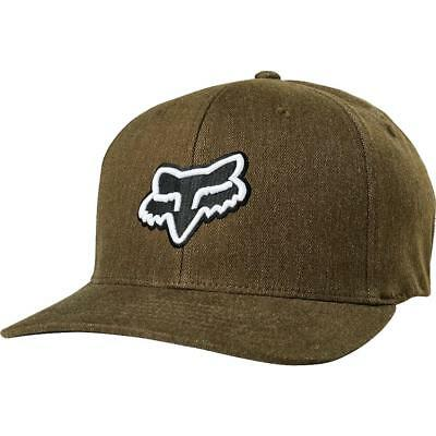 Fox Racing Cap Transfer Flexfit Hat Bark S/M 21975 in stock
