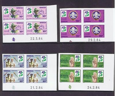 Senegal 1984 Boy Scout set in dated imperf corner marginals unmounted mint MNH