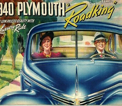 1940 Plymouth Roadking Deluxe Color Sales Catalog