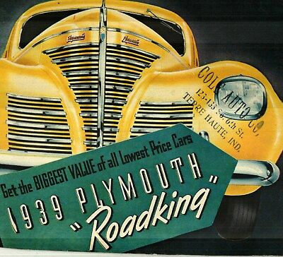 1939 Plymouth Roadking Deluxe Color Sales Catalog