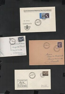 413          BGL  Luxembourg  special Centilux of cards and cover interesting