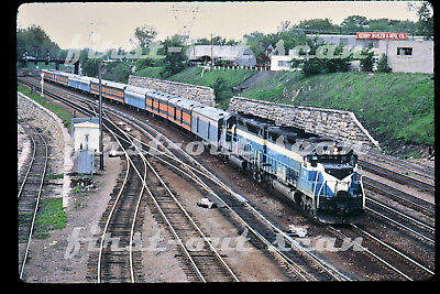 DUPLICATE SLIDE - Great Northern GN 328 SDP-45 Passenger Action at St. Paul MN