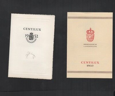 423       BGL  Luxembourg  special Centilux of cards and cover interesting