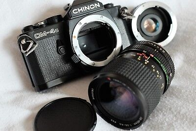 CHINON CM-4s 35mm SLR CAMERA OUTFIT INCLUDES X2 CONVERTER + TOKINA ZOOM LENS