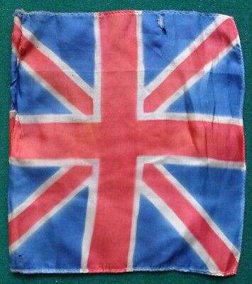 Antique United Kingdom of Great Britain Union Jack Silk Flag