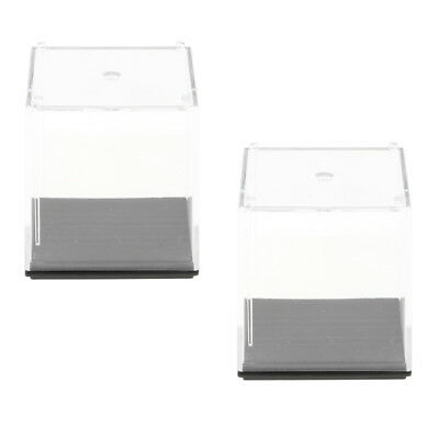 5x5x5cm Clear Model Display Box Figures Protection Show Case Toy Pack of 2
