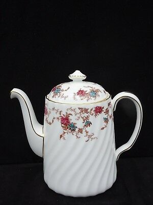 "Minton Bone China ""ancestral"" 4 Cup Coffee Pot ~ Mint Condition"
