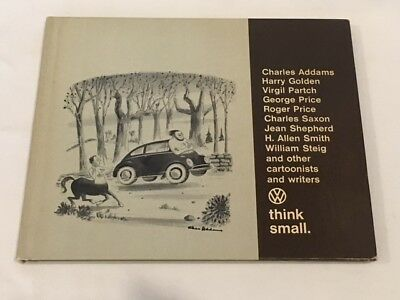 VW Volkswagen Think Small - Dealership Promotional Hardcover Book - 1960's