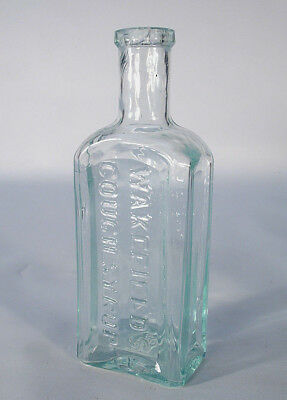 Wakefield's Cough Syrup Older Applied Top A & D H C Glass Works Medicine Bottle