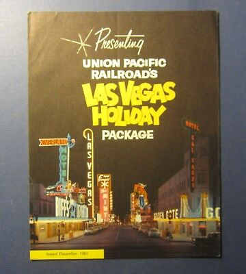 Old 1961 - Union Pacific RAILROAD - LAS VEGAS HOLIDAY Package - Brochure