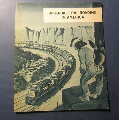 Old Vintage 1960's Santa Fe Railway - FREIGHT Brochure - Up-To-Date Railroading
