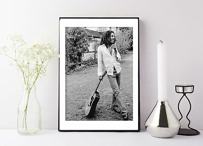 Bob Marley vintage black and white poster print
