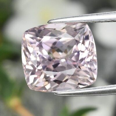 4.87ct 9.7x9mm Antique-Cut Natural Untreated Pink Kunzite, Afghanistan