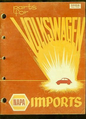 1969 NAPA Parts for Volkswagen Imports catalog + more