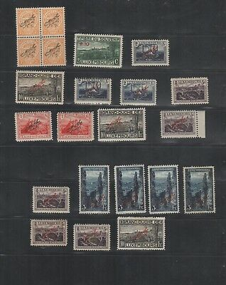 2876 Luxembourg Luxemburg beautiful mixed selection of stamps MH charniere