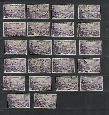 2877 Luxembourg Luxemburg beautiful mixed selection of stamps Radio cancelled