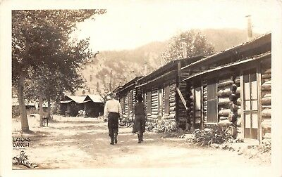 LP63 Wolf Wyoming Eatons Ranch Vintage Real Photo Postcard