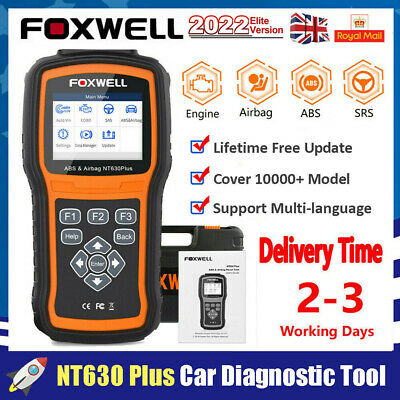 ABS Airbag SAS  Reset Tool OBD2 Car Code Reader Scanner Diagnostic Foxwell NT630