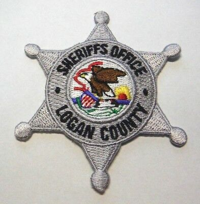 "Logan County Illinois Sheriff 3"" Patch Unused"