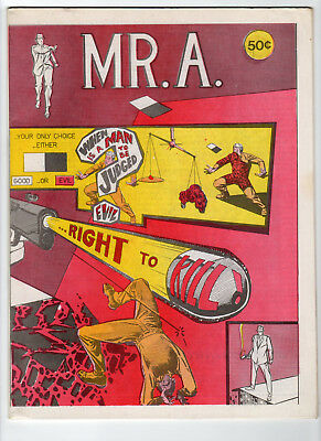 Mr. A #1 by Steve Ditko 1st Printing Magazine Size 1973 Comic Art Publishers