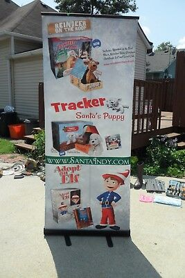 "Professional 32"" x 79"" Retractable Roll Up Banner Stand Trade Show Display"