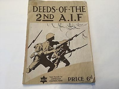 "Booklet ""Deeds of the 2nd A.I. F."" (Australian Imperial Force) WWII original"