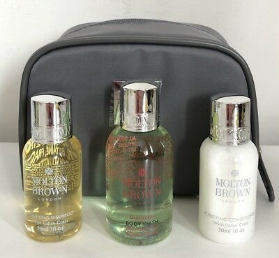 MOLTON BROWN Gift Set Wash Bag Shampoo  & Conditioner & Body Wash BN Authentic