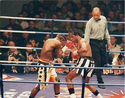 NIGEL BENN v MALINGA  BOXING 10x8ins original press photograph 2nd March 1996