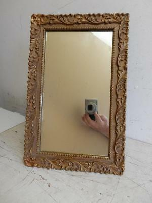really old MIRROR art deco gesso frame STAND UP