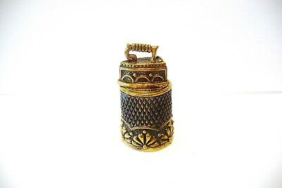 Thimble 2-Pc Handcrafted Brass-Bronze Russian Magnetic Old-Fashion Steam Iron