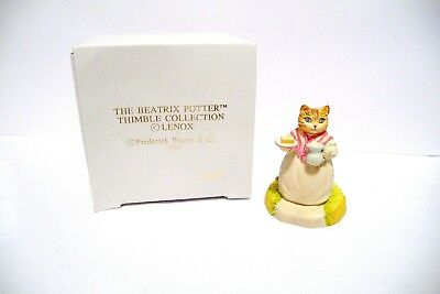 "Thimble Handcrafted Lenox & Warne '96 Beatrix Potter Collection ""ribby"""