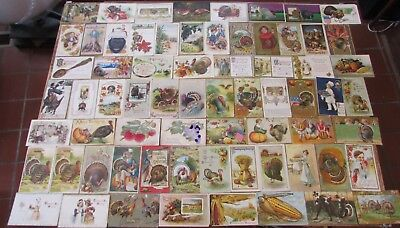 LOT 88 VINTAGE THANKSGIVING POSTCARDS ca1910 EMBOSSED WINSCH BRUNDAGE POSTED