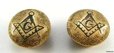 MASONIC - Vintage Square Compass Cuff Buttons STUDS