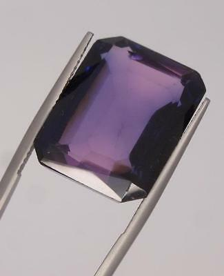 *29Ct Loose Synthetic Alexandrite Emerald Cut Gemstone*