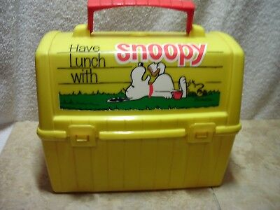 Vintage 1968 Thermos King Seeley Snoopy Woodstock Peanuts Lunch Box W/thermos