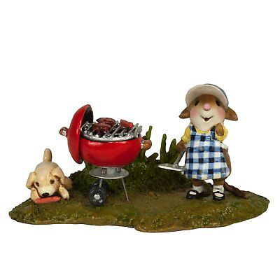 GRILL MOUSTER by Wee Forest Folk, WFF# M-445d, BBQ Mouse, Limited Edition 2018