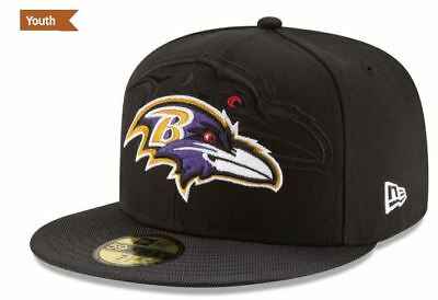 competitive price 3ac56 c06a6 Baltimore Ravens Youth New Era 59Fifty Hat Cap 6 1 2 6 3 8