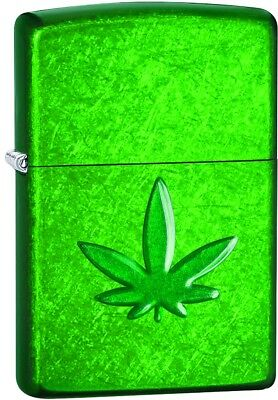 Zippo Choice Stamped Marijuana Leaf Meadow Windproof Lighter 29662 NEW