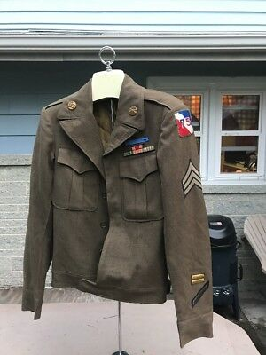 WW2 US 75th Infantry Division Ike Jacket Named (A90