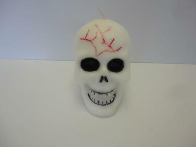 1980s Halloween GLOW in the DARK Skull Candle Unused!