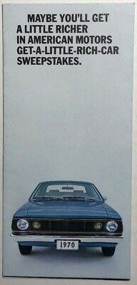 AMERICAN MOTORS HORNET vintage illustrated fold-out 16-section brochure (1970)