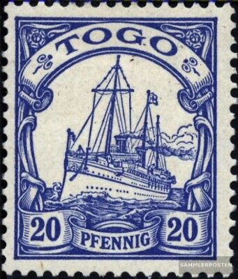 Togo (German. Colony) 10 with hinge 1900 Ship Imperial Yacht Hohenzollern
